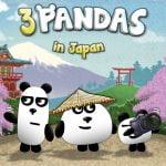 3 pandas no Japão