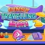 Aeroport călător amuzant