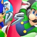 Luigi en Sonic
